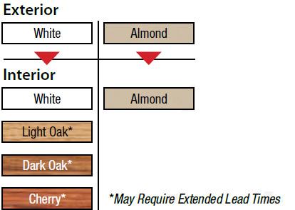 Window Interior Color Options