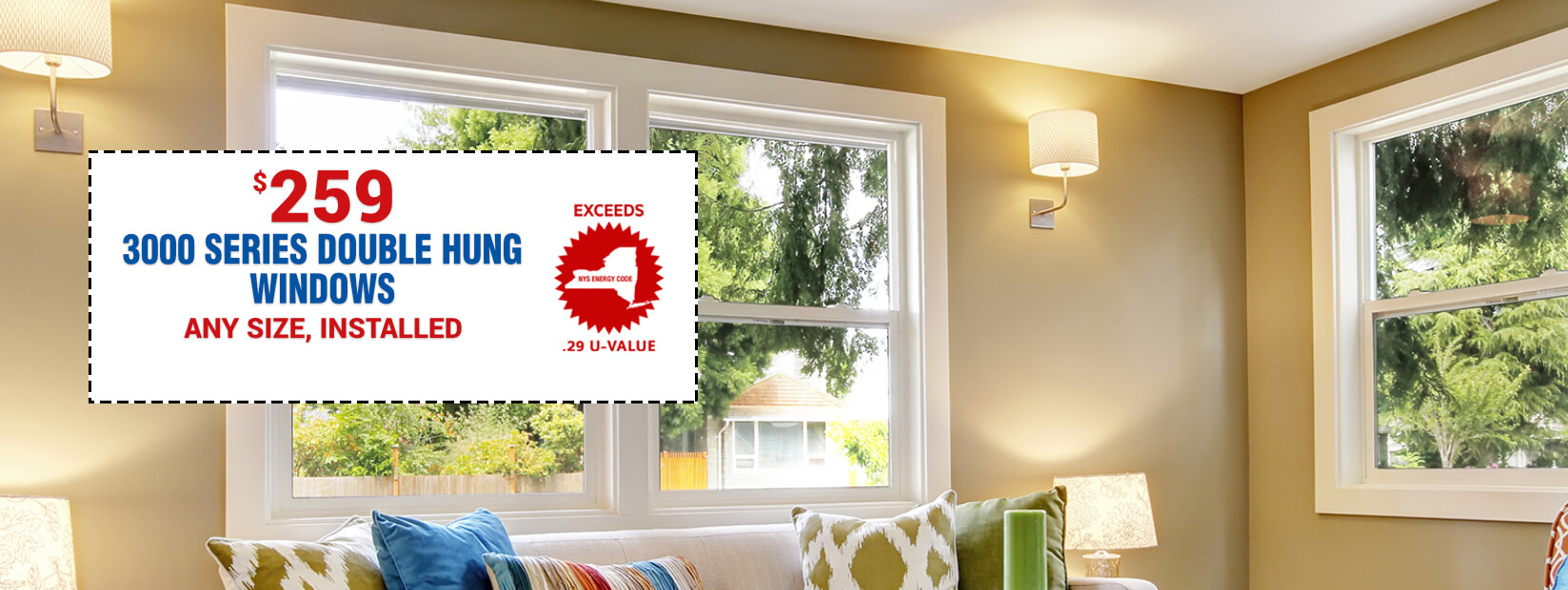 3000 Series Double Hung Windows $259